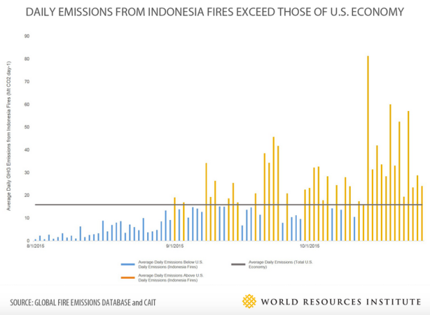 Daily Emissions from Indonesian Fires